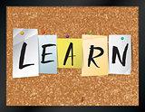 Learn Bulletin Board Theme Illustration