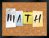Math Bulletin Board Theme Illustration