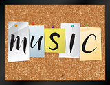 Music Bulletin Board Theme Illustration