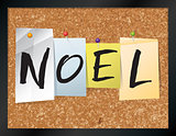 Noel Bulletin Board Theme Illustration