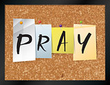 Pray Bulletin Board Theme Illustration