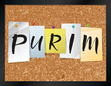 Purim Bulletin Board Theme Illustration