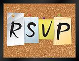 RSVP Bulletin Board Theme Illustration