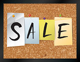 Sale Bulletin Board Theme Illustration