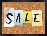 Sale Bulletin Board Theme Illustration