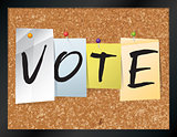 Vote Bulletin Board Theme Illustration