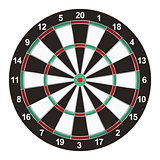Realistic Dart Board Illustration