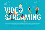 Video streaming concept illustration