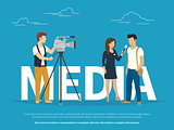 Mass media concept illustration