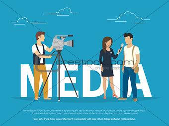 Mass media concept illustration