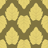 Seamless pattern. Symmetrical leaves