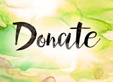 Donate Concept Watercolor Theme