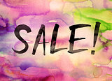 Sale Concept Watercolor Theme