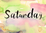 Saturday Concept Watercolor Theme
