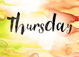 Thursday Concept Watercolor Theme