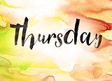 Thursday Concept Watercolor Theme
