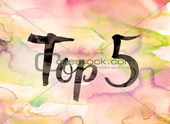 Top 5 Concept Watercolor Theme