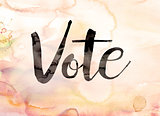 Vote Concept Watercolor Theme