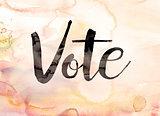 Vote Concept Watercolor Theme