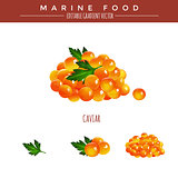 Red Caviar. Marine Food