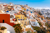 Picturesque view of Oia, Santorini, Greece