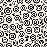 Vector Seamless Hand Painted Circular Rings Jumble Pattern