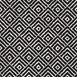 Vector Seamless Hand Painted Line Concentric Rhombus Shape Pattern