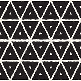 Vector Seamless  Hand Painted Line Geometric Triangle Grid Pattern
