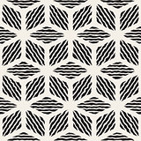 Vector Seamless Hand Painted Line Geometric Rhombus Stripes Pattern