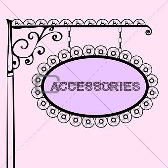 accessories retro vintage street sign