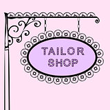 tailor shop retro vintage street sign