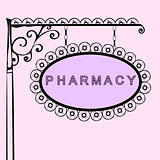 pharmacy retro vintage street sign