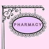 pharmacy retro vintage street sign