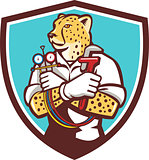 Cheetah Heating Specialist Crest Cartoon