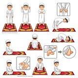 Complete Set of Muslim Prayer Position Guide