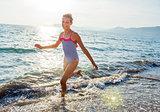 Girl at tropical beach