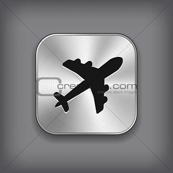 Airplane icon - metal app button