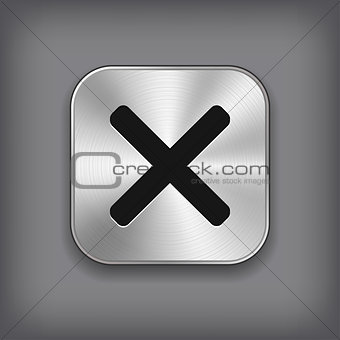 Cancel icon - metal app button