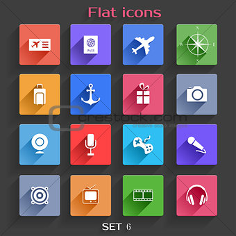 Flat Application Icons Set 6