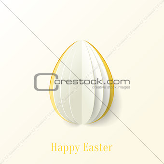 Abstract vector paper Easter egg background