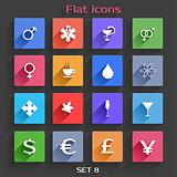 Flat Application Icons Set 8