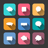 Speech Bubbles  Icons Set in Flat Style