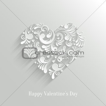 Absrtact Floral Heart Background