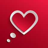 Speech bubble. Valentine's day backround