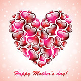 Happy mother day colorful background.