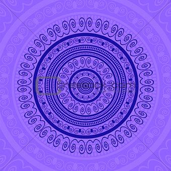 Blue Circle Lace Ornament