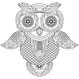 Big owl abstract outline