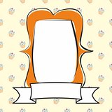 Photo vector frame on cake background