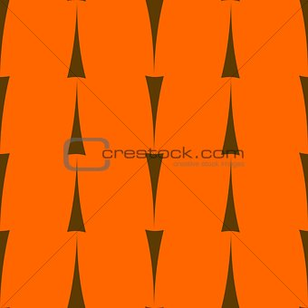 Tile vector pattern with black arrows on orange background