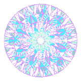 circular pattern purple blue on a white. vector illustration